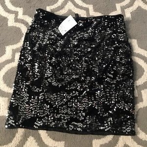 Sequined velour skirt by H&M -medium-NWT